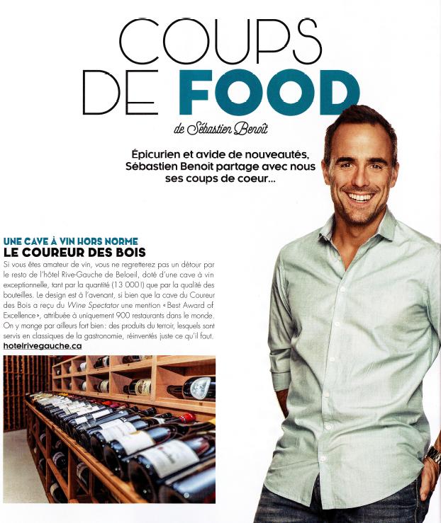 Articles presse le coureur des bois bistro culinaire for Article culinaire